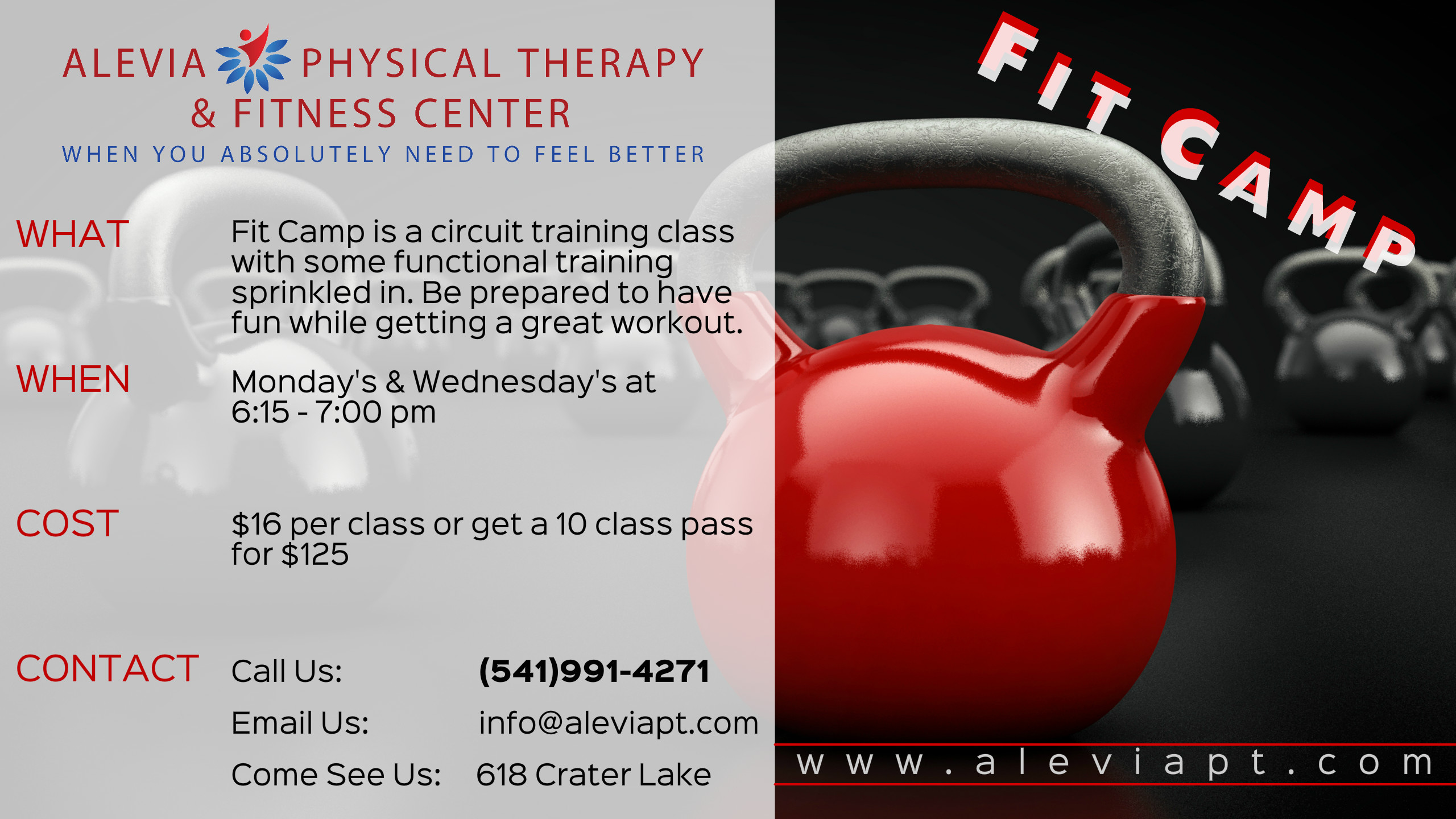Personal Trainer  com | Medford Oregon Gym Alevia Physical Therapy